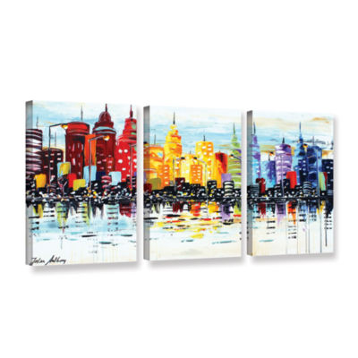 Brushstone City life 3-pc. Gallery Wrapped CanvasWall Art