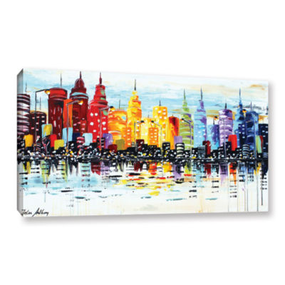 Brushstone City life Gallery Wrapped Canvas Wall Art