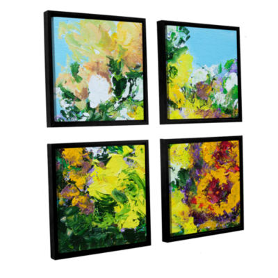 Brushstone Alnwick Garden 4-pc. Framed Canvas Square