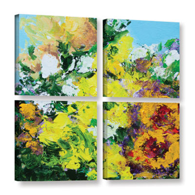 Brushstone Alnwick Garden 4-pc. Gallery Wrapped Canvas Square