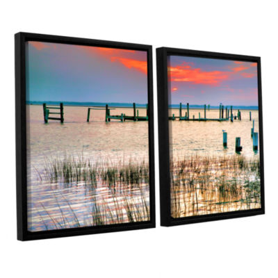 Brushstone Sunset Bay III 2-pc. Floater Framed Canvas Wall Art