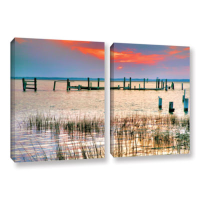 Brushstone Sunset Bay III 2-pc. Gallery Wrapped Canvas Wall Art