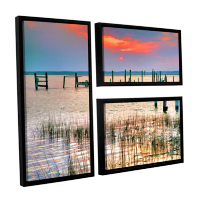 Sunset Bay III 3-pc. Flag Floater Framed Canvas Wall Art