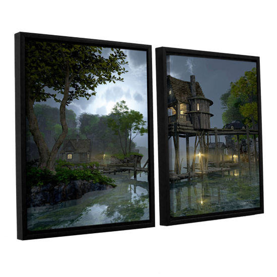 Brushstone Stillwater 2-pc. Floater Framed CanvasWall Art