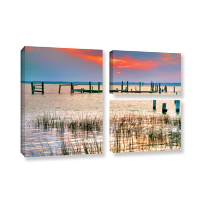 Brushstone Sunset Bay III 3-pc. Flag Gallery Wrapped Canvas Wall Art