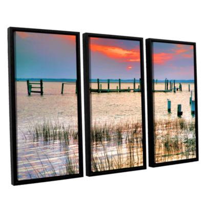 Sunset Bay III 3-pc. Floater Framed Canvas Wall Art