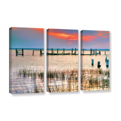 Brushstone Sunset Bay III 3-pc. Gallery Wrapped Canvas Wall Art