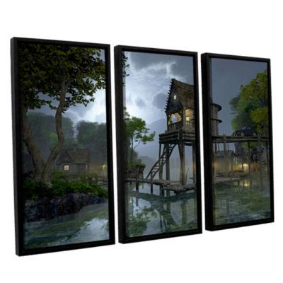 Brushstone Stillwater 3-pc. Floater Framed CanvasWall Art