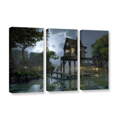 Brushstone Stillwater 3-pc. Gallery Wrapped CanvasWall Art