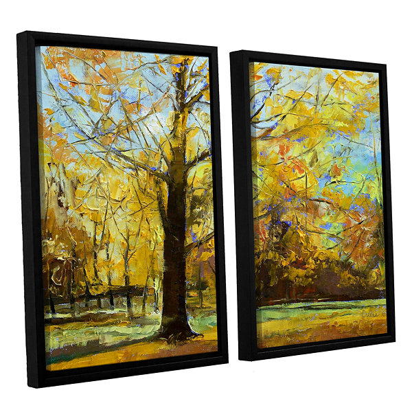 Shades of Autumn 2-pc. Framed Canvas Wall Art