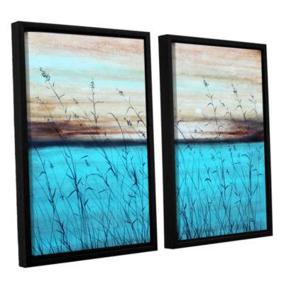 Brushstone Dawn 2-pc. Floater Framed Canvas Wall Art