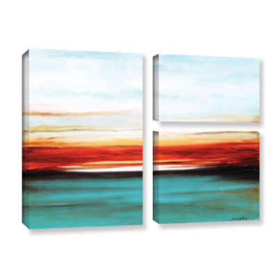 Brushstone Dawn 3-pc. Flag Gallery Wrapped CanvasWall Art