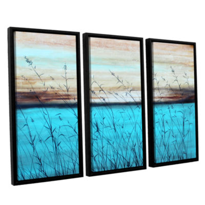 Brushstone Dawn 3-pc. Floater Framed Canvas Wall Art
