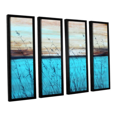 Brushstone Dawn 4-pc. Floater Framed Canvas Wall Art