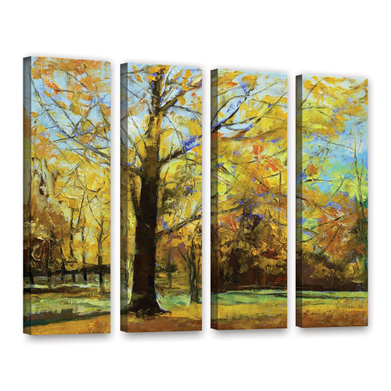 Brushstone Shades of Autumn 4-pc. Gallery WrappedCanvas Wall Art