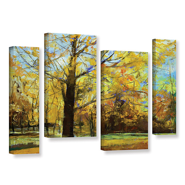 Brushstone Shades of Autumn 4-pc. Gallery WrappedStaggered Canvas Wall Art