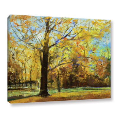 Brushstone Shades of Autumn Gallery Wrapped CanvasWall Art