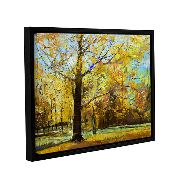 Brushstone Shades of Autumn Gallery Wrapped Floater-Framed Canvas Wall Art