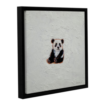 Brushstone Little Panda Gallery Wrapped Floater-Framed Canvas Wall Art