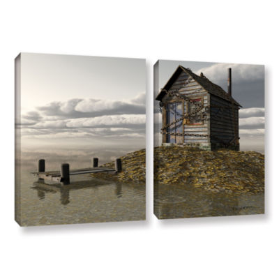 Brushstone Locked Out 2-pc. Floater Framed CanvasWall Art