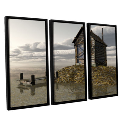 Brushstone Locked Out 3-pc. Floater Framed CanvasWall Art