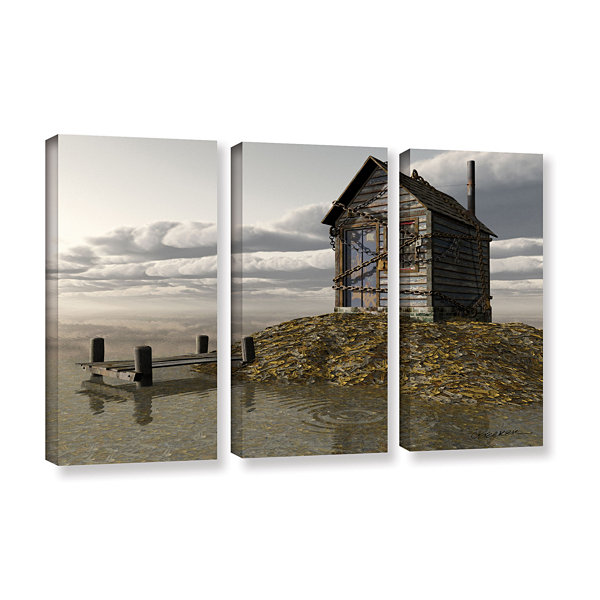 Brushstone Locked Out 3-pc. Gallery Wrapped CanvasWall Art