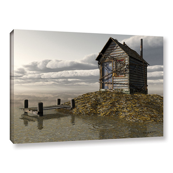 Brushstone Locked Out Gallery Wrapped Canvas WallArt