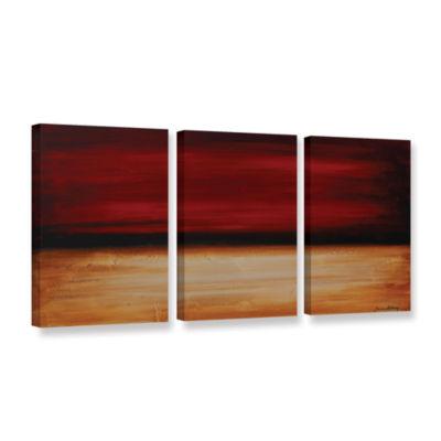 Brushstone Desert sunset 3-pc. Gallery Wrapped Canvas Wall Art
