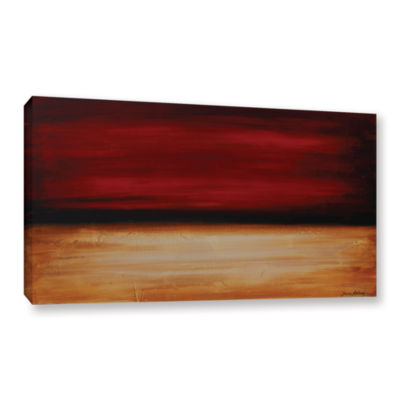 Brushstone Desert sunset Gallery Wrapped Canvas Wall Art