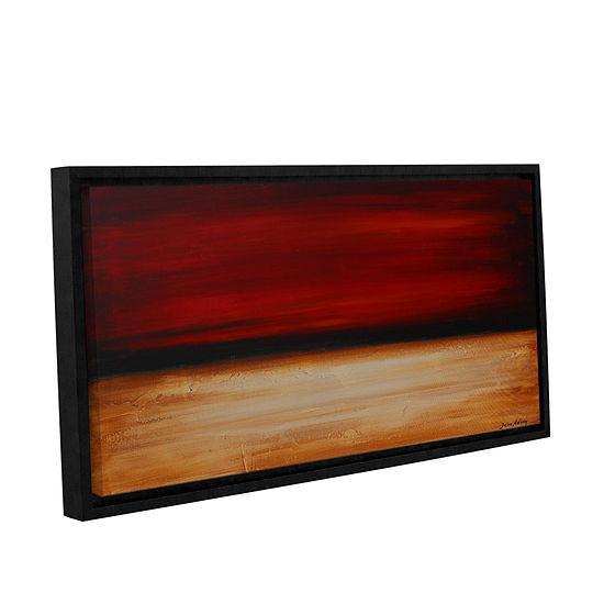 Brushstone Desert sunset Gallery Wrapped Floater-Framed Canvas Wall Art