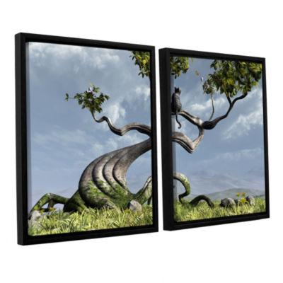 Brushstone Sitting Tree 2-pc. Floater Framed Canvas Wall Art