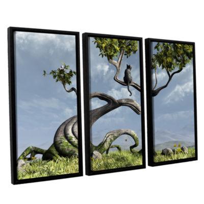 Brushstone Sitting Tree 3-pc. Floater Framed Canvas Wall Art