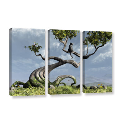 Brushstone Sitting Tree 3-pc. Gallery Wrapped Canvas Wall Art