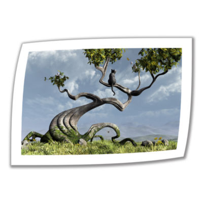 Brushstone Sitting Tree Canvas Wall Art