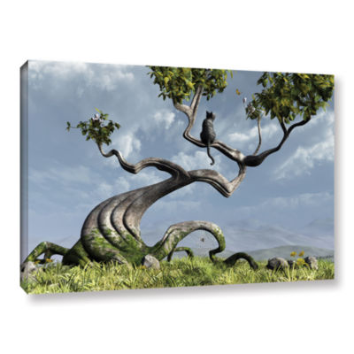 Brushstone Sitting Tree Gallery Wrapped Canvas Wall Art