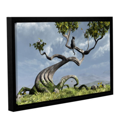 Brushstone Sitting Tree Gallery Wrapped Floater-Framed Canvas Wall Art