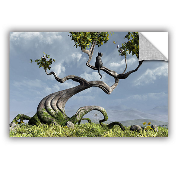Brushstone Sitting Tree Removable Wall Decal