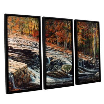 Brushstone Autumn Cascade 3-pc. Floater Framed Canvas Wall Art