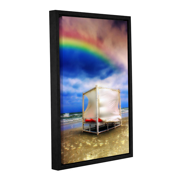 Brushstone Storm After Rainbows Gallery Wrapped Floater-Framed Canvas Wall Art
