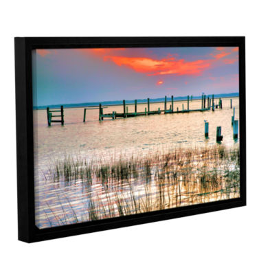 Brushstone Sunset Bay III Gallery Wrapped Floater-Framed Canvas Wall Art