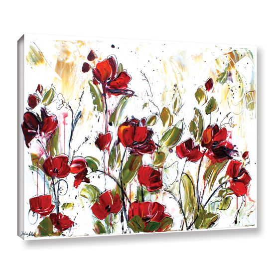 Brushstone Floral Gallery Wrapped Canvas Wall Art