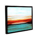 Brushstone Sunset Gallery Wrapped Floater-Framed Canvas Wall Art