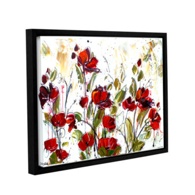 Brushstone Floral Gallery Wrapped Floater-Framed Canvas Wall Art