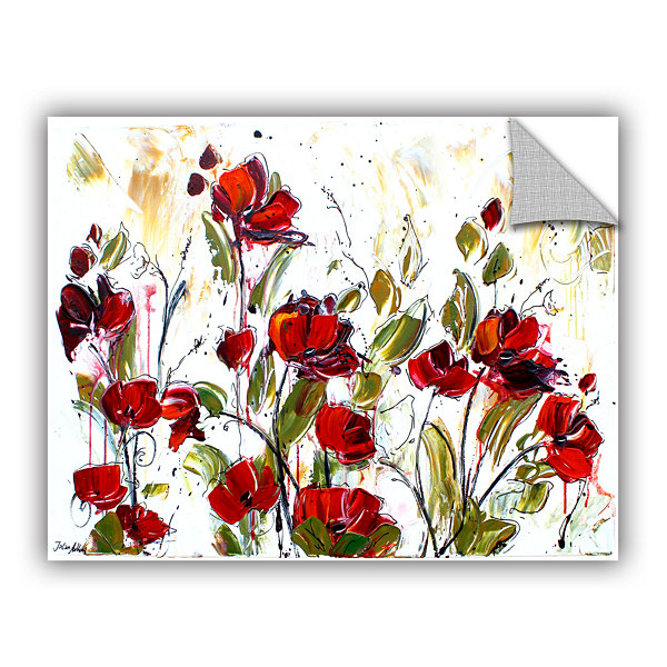 Brushstone Floral Removable Wall Decal