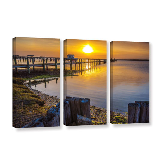 Brushstone Sunset Over Chincoteague 3-pc. GalleryWrapped Canvas Wall Art