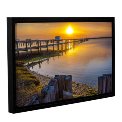 Brushstone Sunset Over Chincoteague Gallery Wrapped Floater-Framed Canvas Wall Art