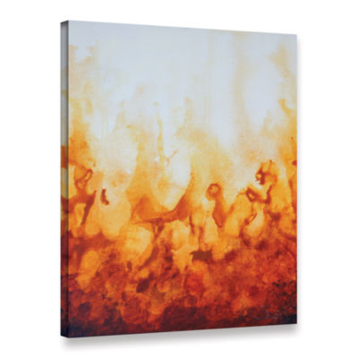 Brushstone Amber Flame Gallery Wrapped Canvas WallArt