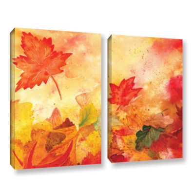 Brushstone Autumn Dance 2-pc. Gallery Wrapped Canvas Wall Art