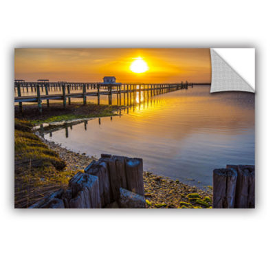 Brushstone Sunset Over Chincoteague Removable WallDecal
