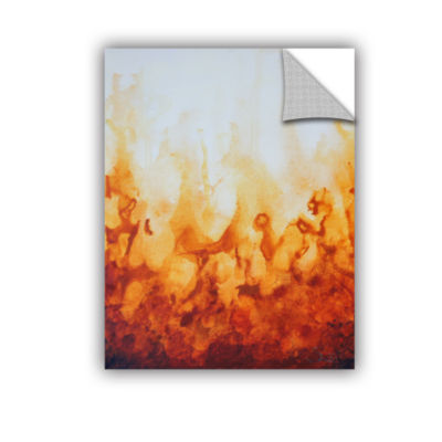 Brushstone Amber Flame Removable Wall Decal